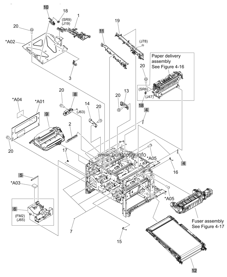 Parts Catalog > HP > Color LaserJet CP4525dn Enterprise