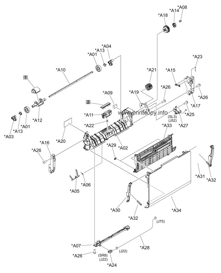 Parts Catalog > HP > Color LaserJet CP4025dn Enterprise