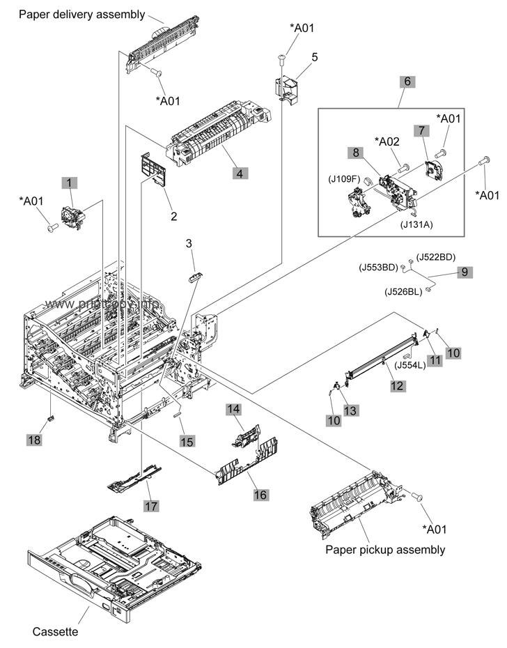 Parts Catalog > HP > Color LaserJet CP5225 Series > page 4