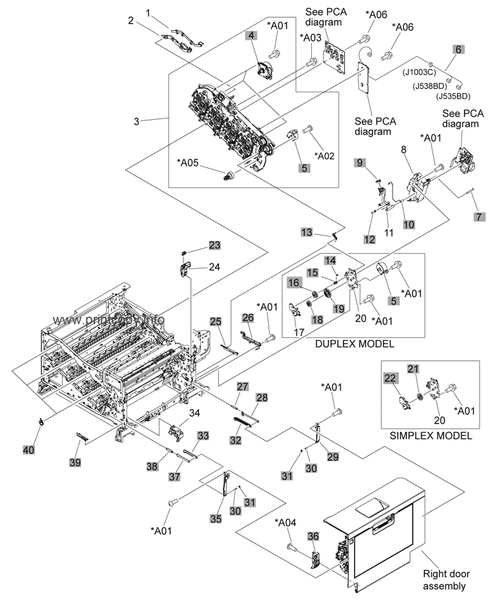 Parts Catalog > HP > Color LaserJet CP5225dn > page 5