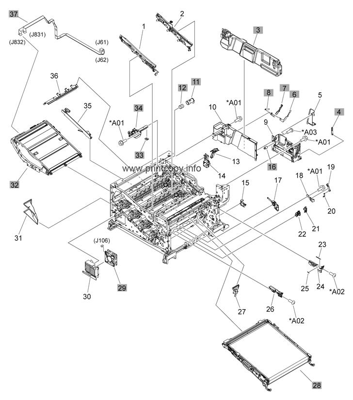 Parts Catalog > HP > Color LaserJet CP5220 Series > page 6