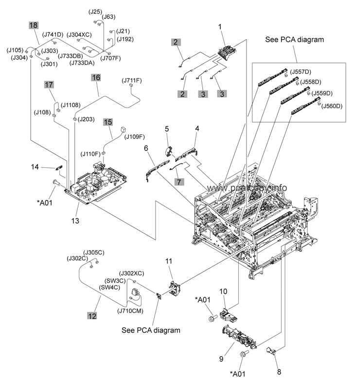 Parts Catalog > HP > Color LaserJet CP5225 Series > page 7
