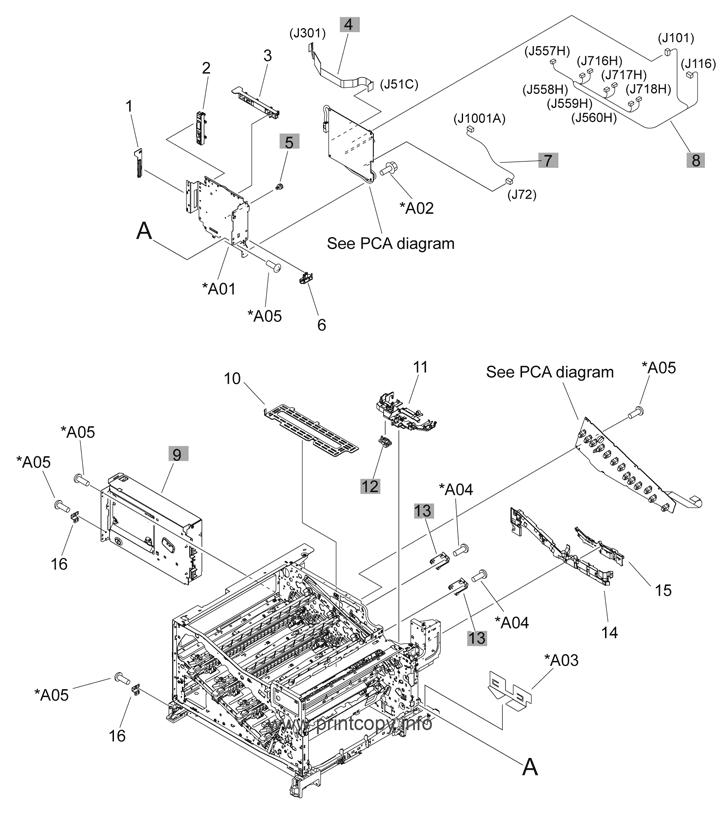 Parts Catalog > HP > Color LaserJet CP5225 Series > page 8