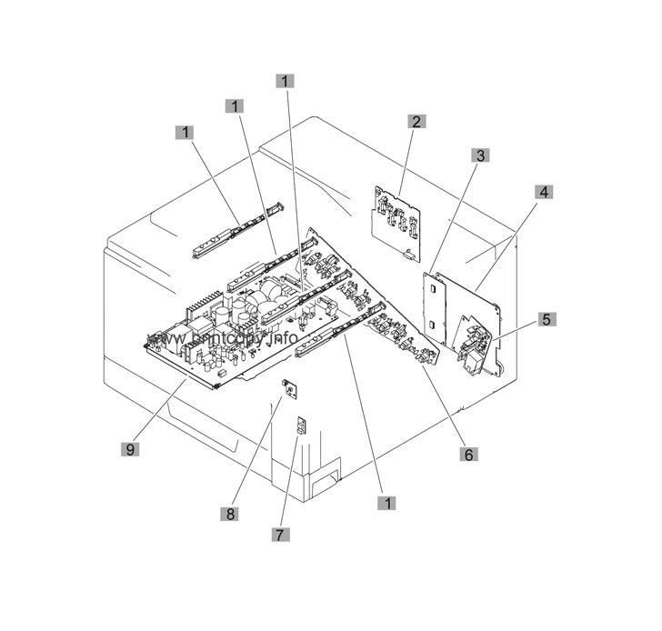 Parts Catalog > HP > Color LaserJet CP5225 Series > page 12