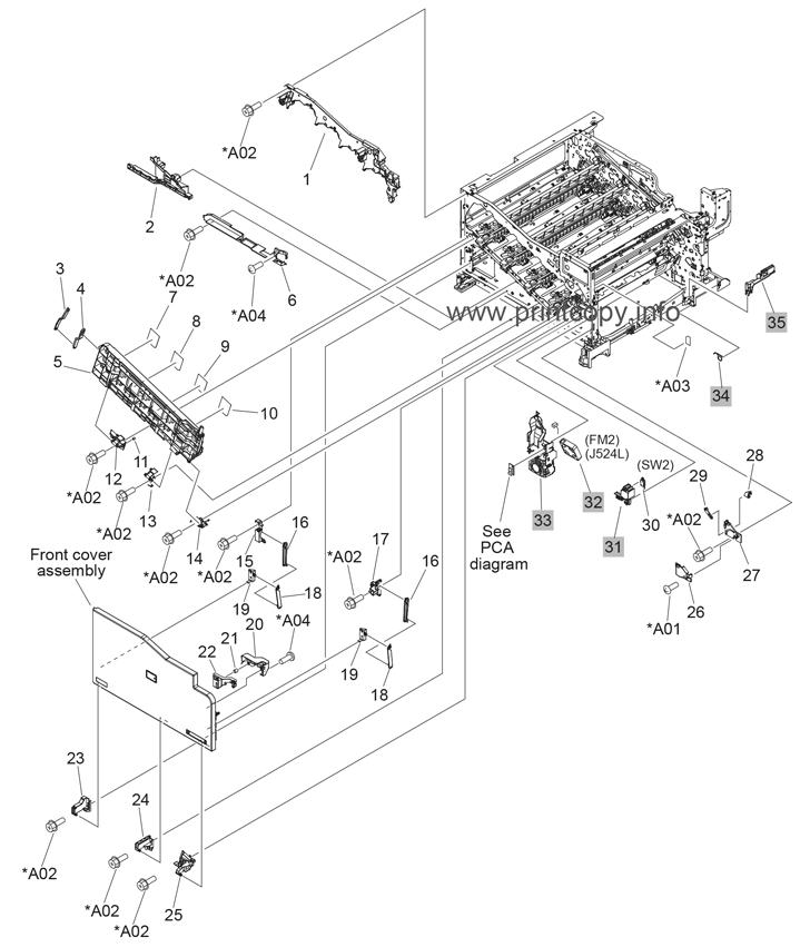 Parts Catalog > HP > Color LaserJet CP5525n Enterprise
