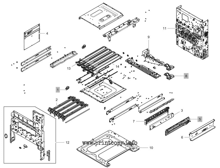 Parts Catalog > HP > Color LaserJet Managed MFP E87640z