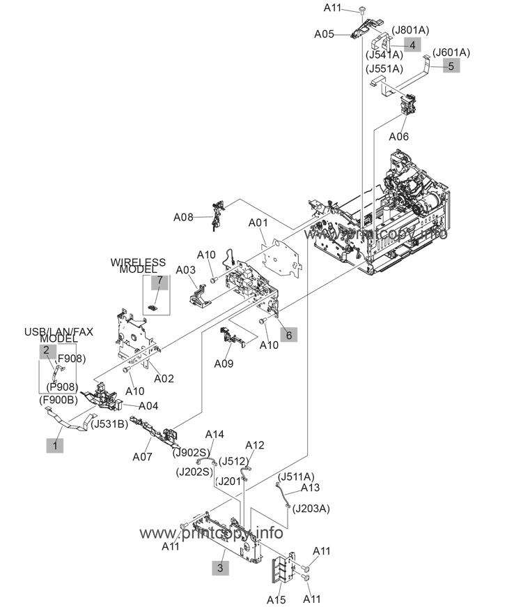 Parts Catalog > HP > LaserJet Pro MFP M130fw > page 7