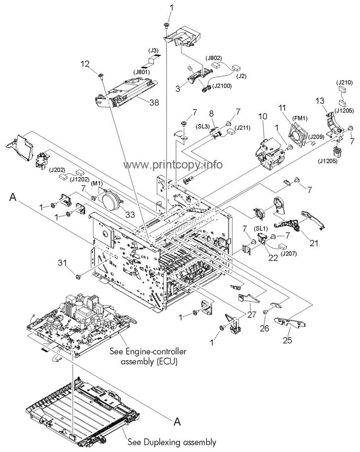 Parts Catalog > HP > LaserJet M2727 MFP > page 9