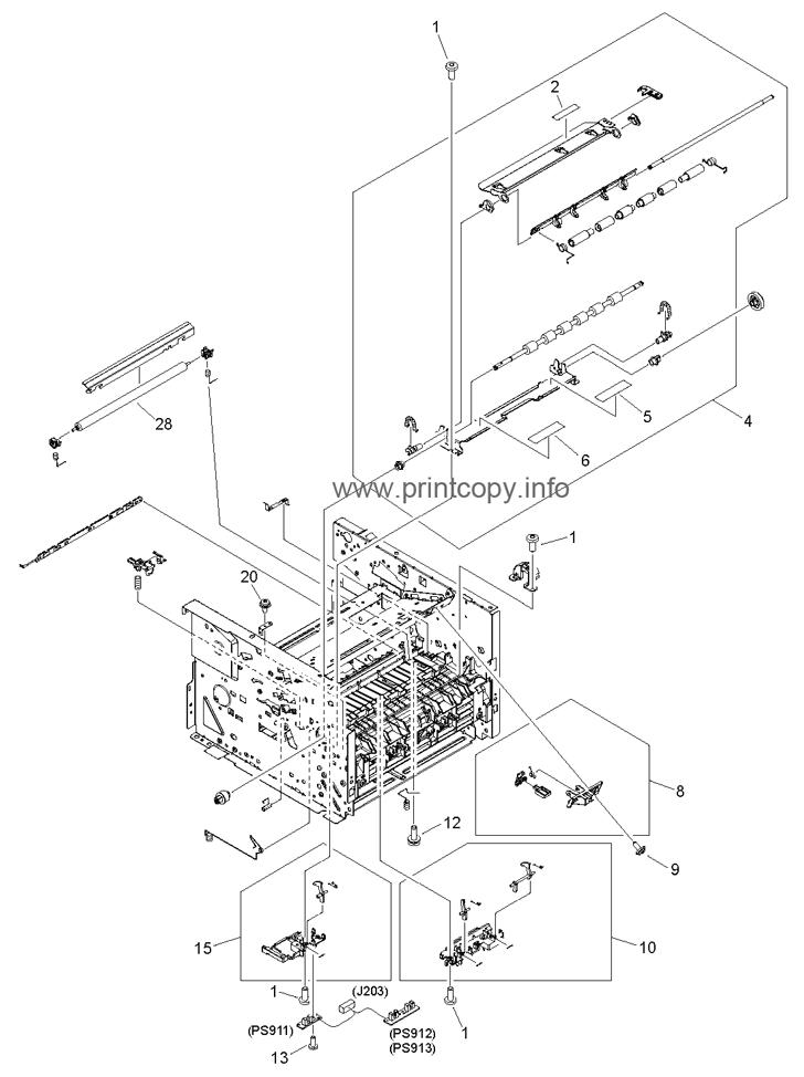 Parts Catalog > HP > LaserJet M2727 MFP > page 10