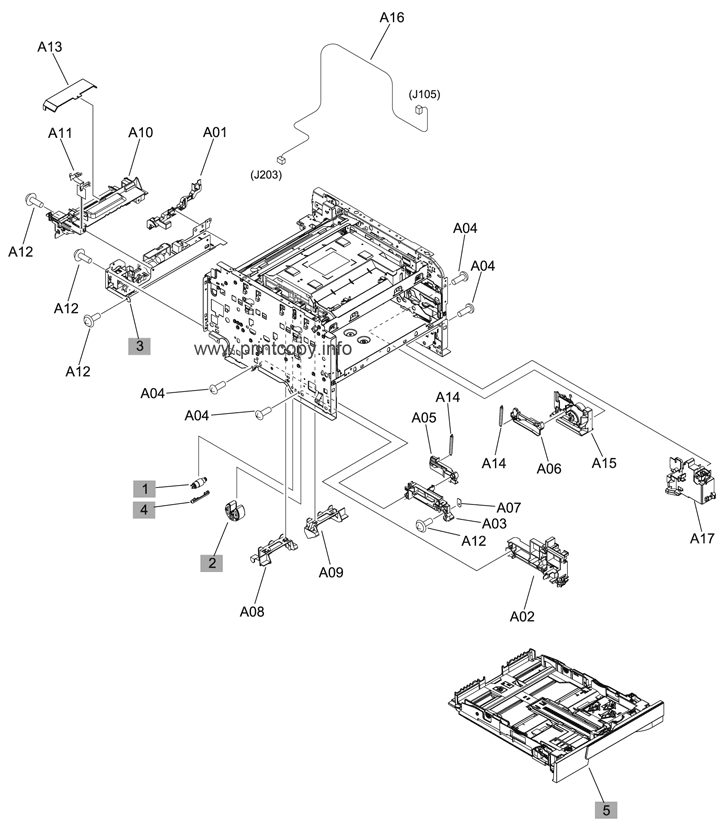 Parts Catalog > HP > LaserJet Pro 200 Color MFP M276n > page 2