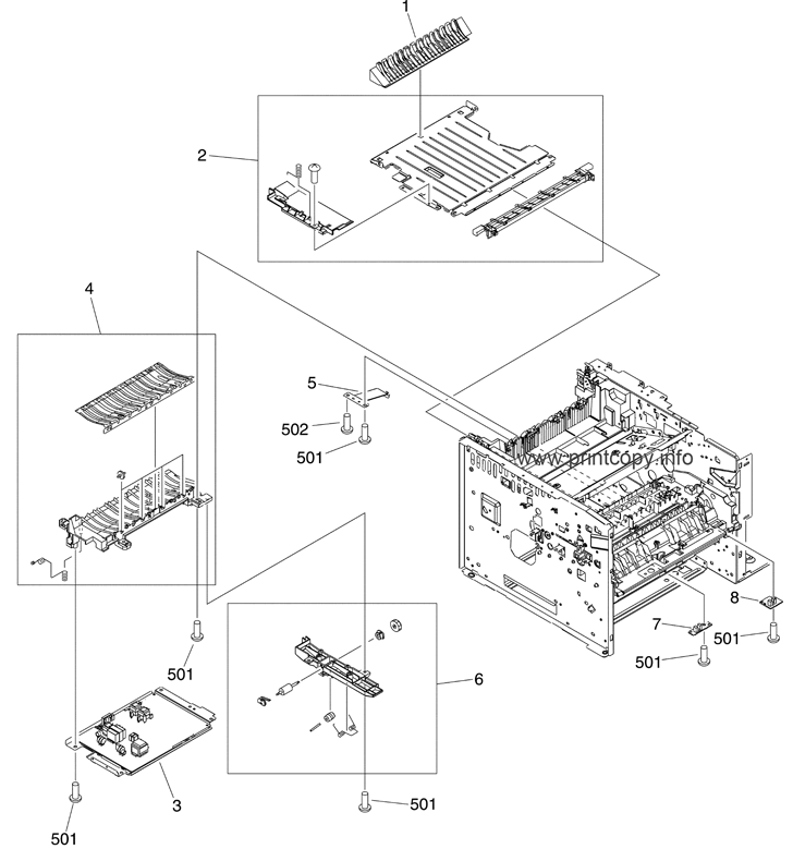 Parts Catalog > HP > LaserJet M3035 MFP > page 6