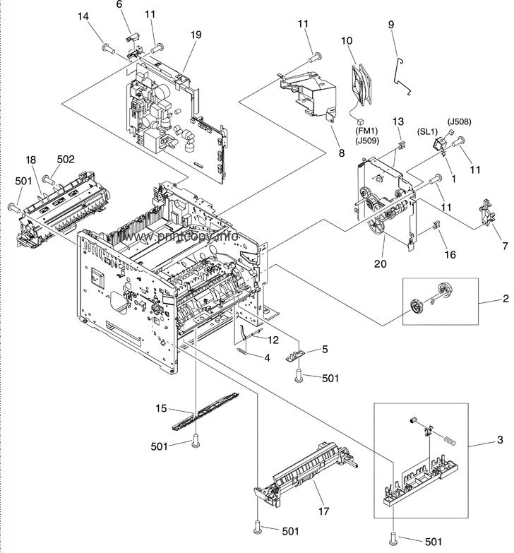 Parts Catalog > HP > LaserJet M3035 MFP > page 7