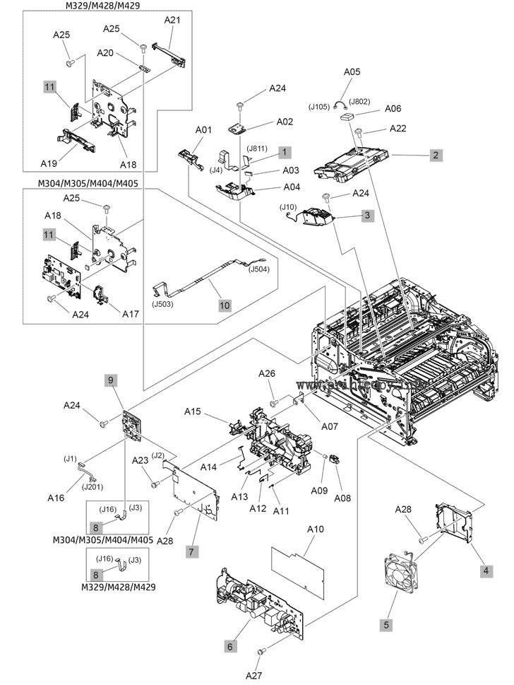 Parts Catalog > HP > LaserJet Pro MFP M428fdw > page 4