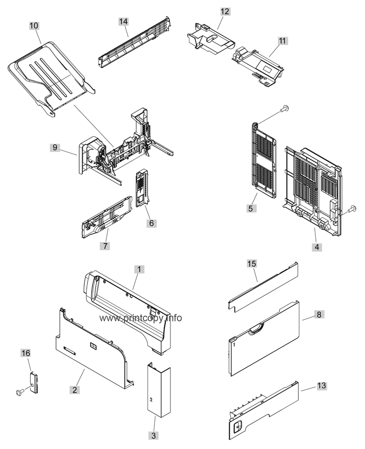 Parts Catalog > HP > LaserJet M4555 MFP Enterprise > page 1