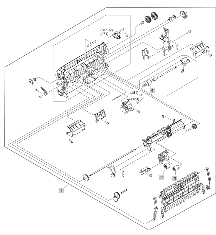 Parts Catalog > HP > LaserJet Enterprise M4555 MFP > page 14