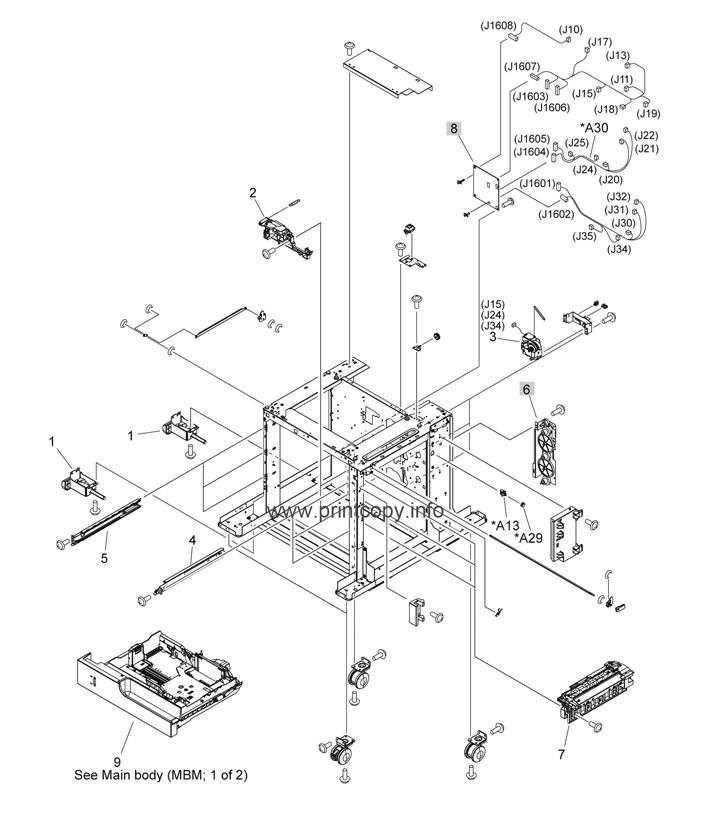 Parts Catalog > HP > LaserJet Enterprise M4555 MFP > page 22