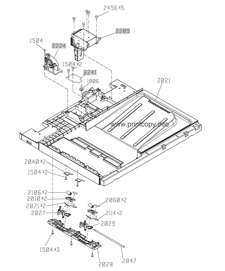 Parts Catalog > HP > LaserJet Enterprise M4555 MFP > page 27
