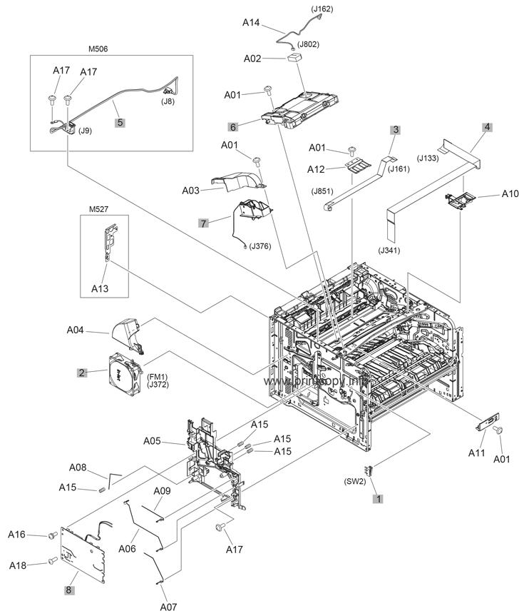 Parts Catalog > HP > LaserJet M527 Enterprise > page 4
