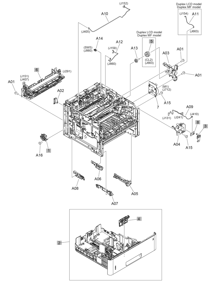 Parts Catalog > HP > LaserJet M506 Enterprise > page 5