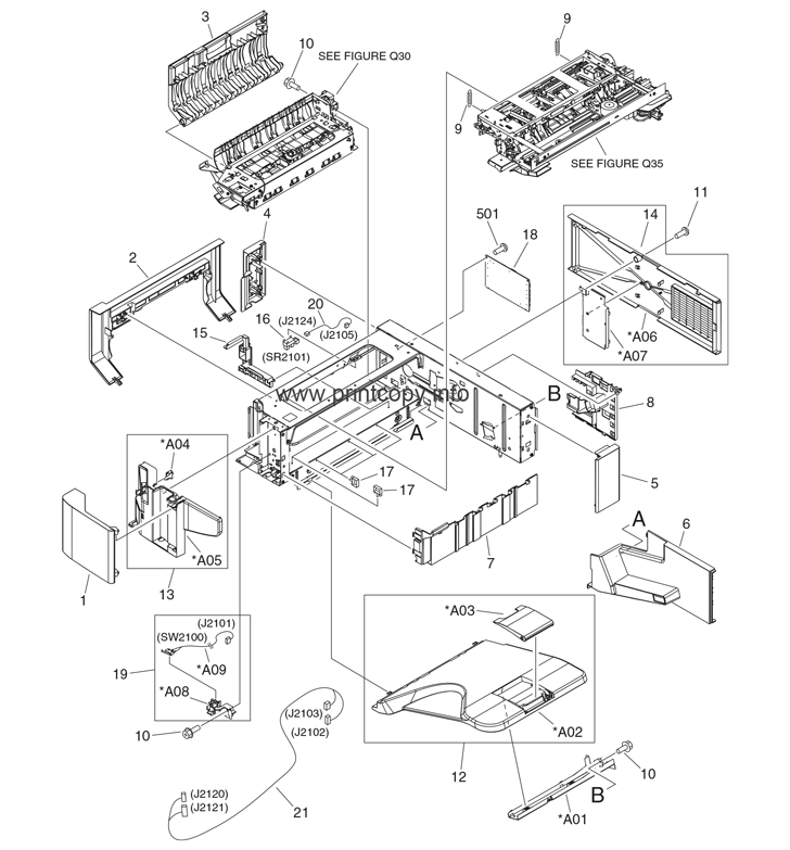 Parts Catalog > HP > LaserJet M5035 MFP > page 16