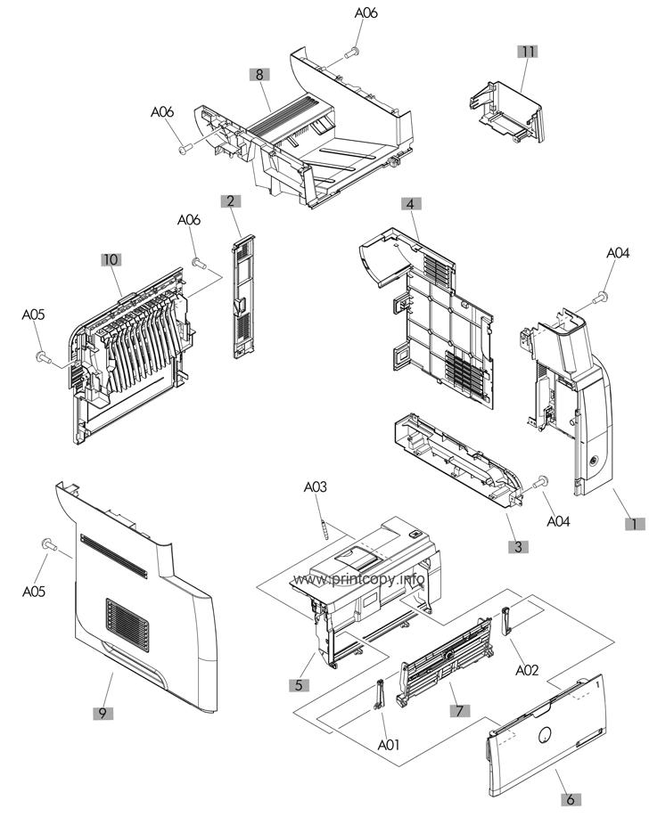Parts Catalog > HP > LaserJet Pro MFP M521 > page 1