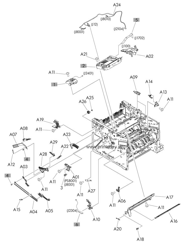 Parts Catalog > HP > LaserJet Enterprise 500 MFP M525 > page 8