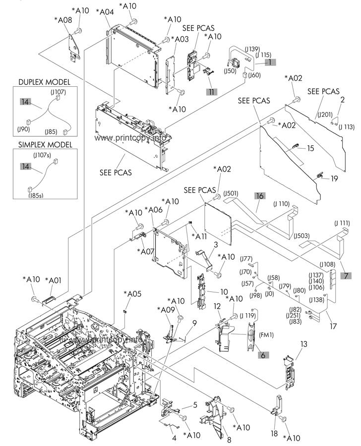 Parts Catalog > HP > LaserJet M551 Enterprise 500 Color