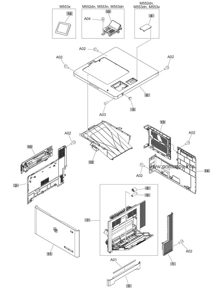 Parts Catalog > HP > Color LaserJet Enterprise M553 > page 1