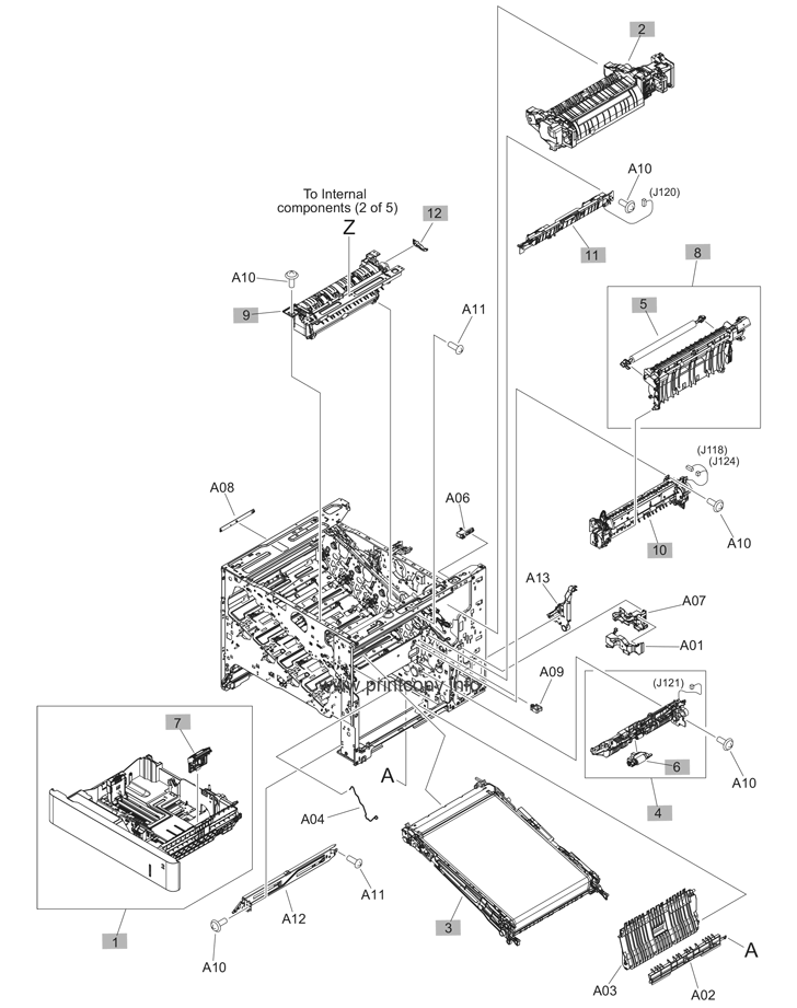 Parts Catalog > HP > Color LaserJet Enterprise M553 > page 4