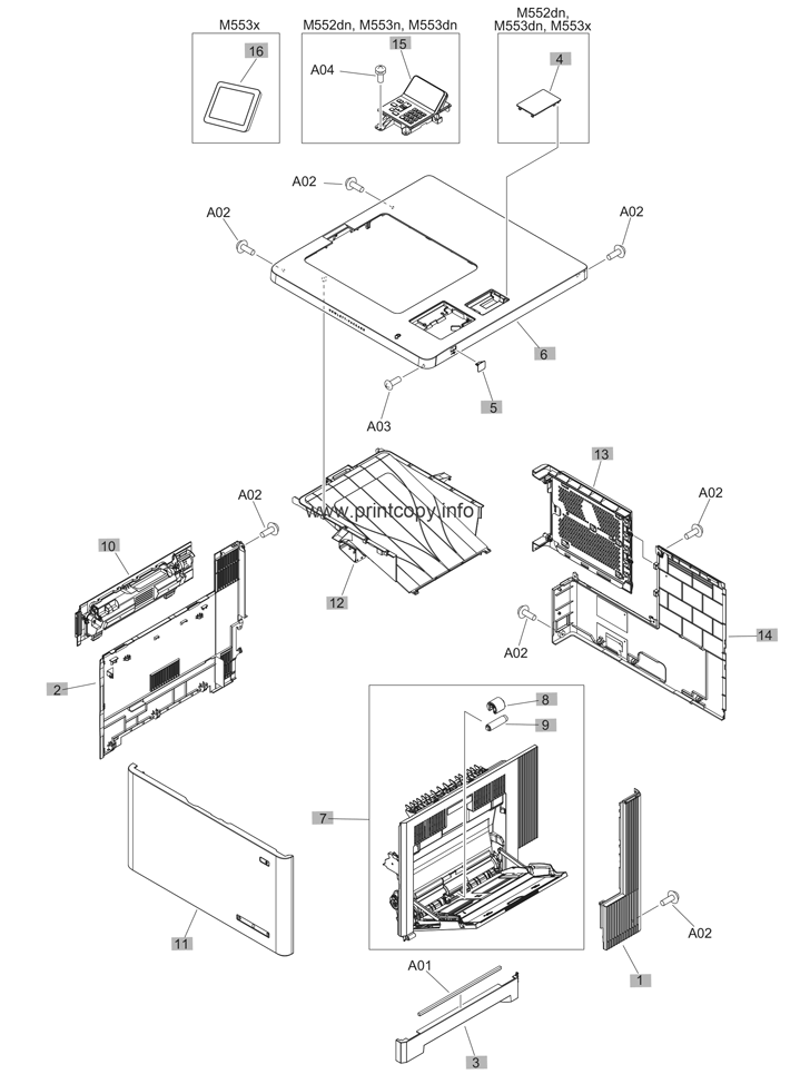 Parts Catalog > HP > LaserJet Enterprise MFP M577 > page 1