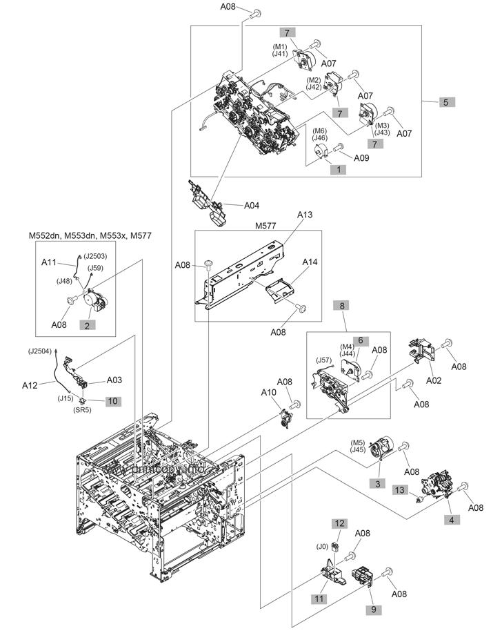 Parts Catalog > HP > LaserJet Enterprise MFP M577 > page 7