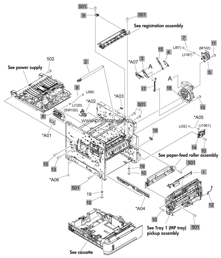 Parts Catalog > HP > LaserJet Enterprise 600 M601 > page 2