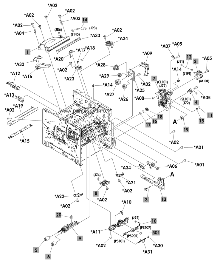 Parts Catalog > HP > LaserJet Enterprise 600 M603 > page 3
