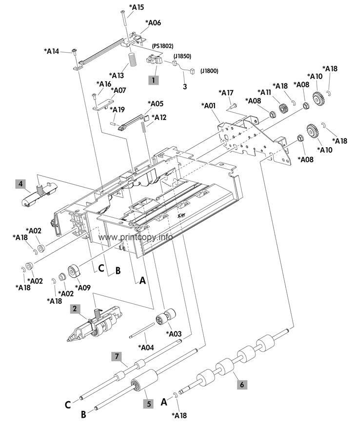 Parts Catalog > HP > LaserJet Enterprise 600 M602 > page 27