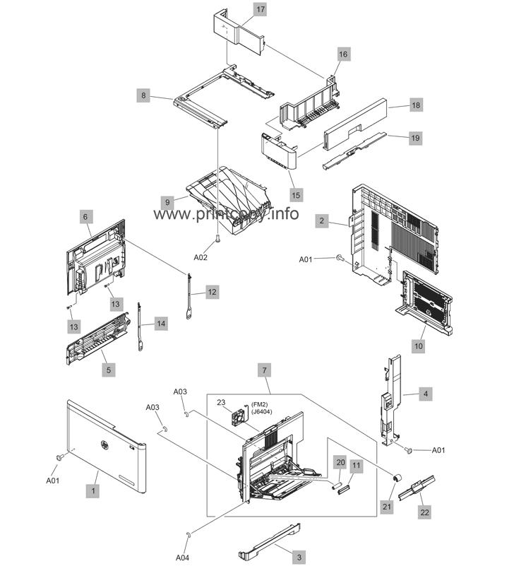 Parts Catalog > HP > LaserJet M608dn Enterprise > page 3