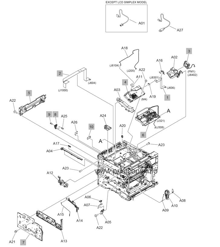 Parts Catalog > HP > LaserJet Enterprise M607 > page 4