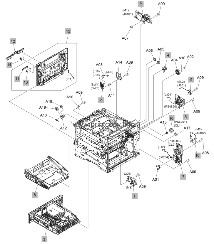 Parts Catalog > HP > LaserJet Enterprise MFP M632 > page 5