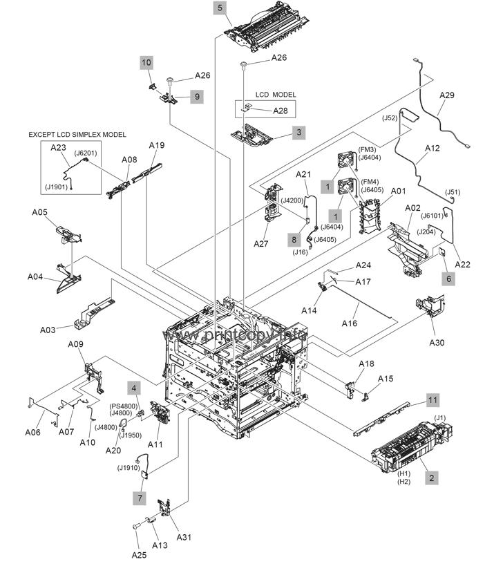 Parts Catalog > HP > LaserJet Enterprise M608 > page 7