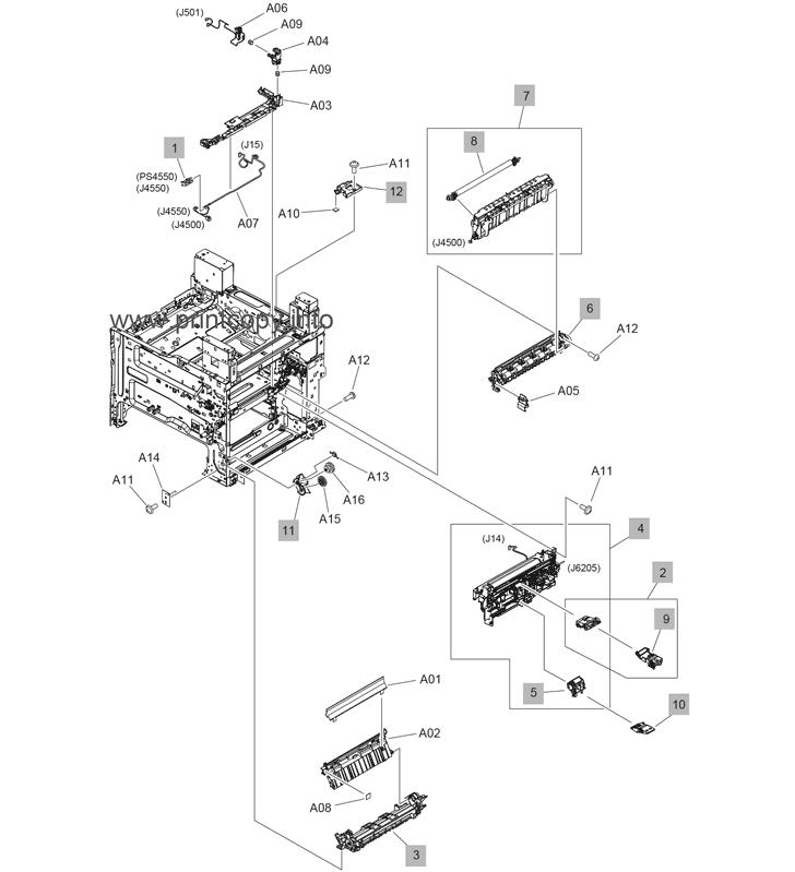 Parts Catalog > HP > LaserJet Enterprise MFP M632 > page 12