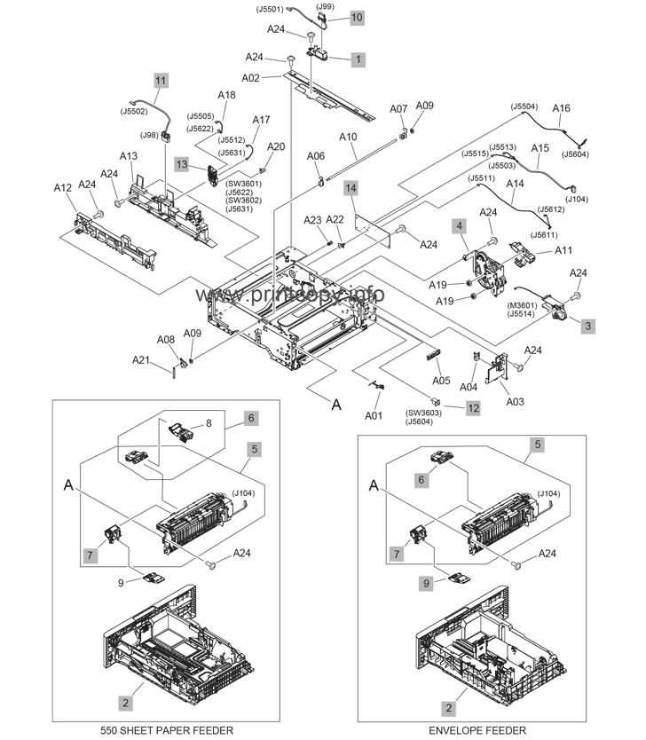 Parts Catalog > HP > LaserJet Enterprise M607 > page 16