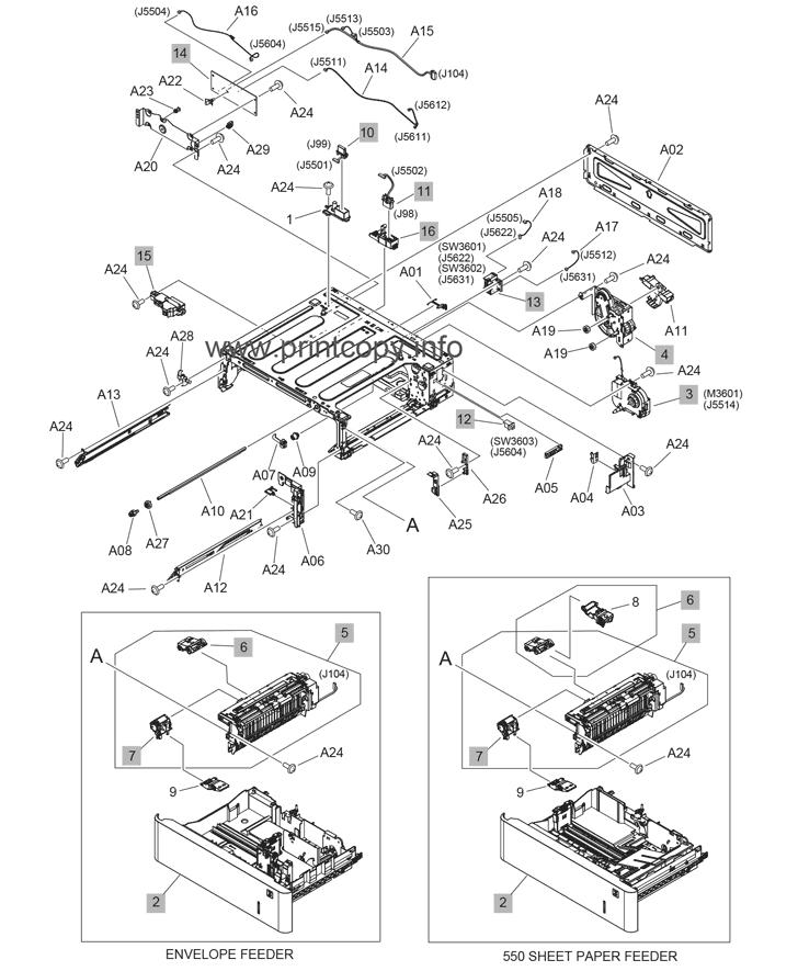 Parts Catalog > HP > LaserJet Enterprise M608 > page 18
