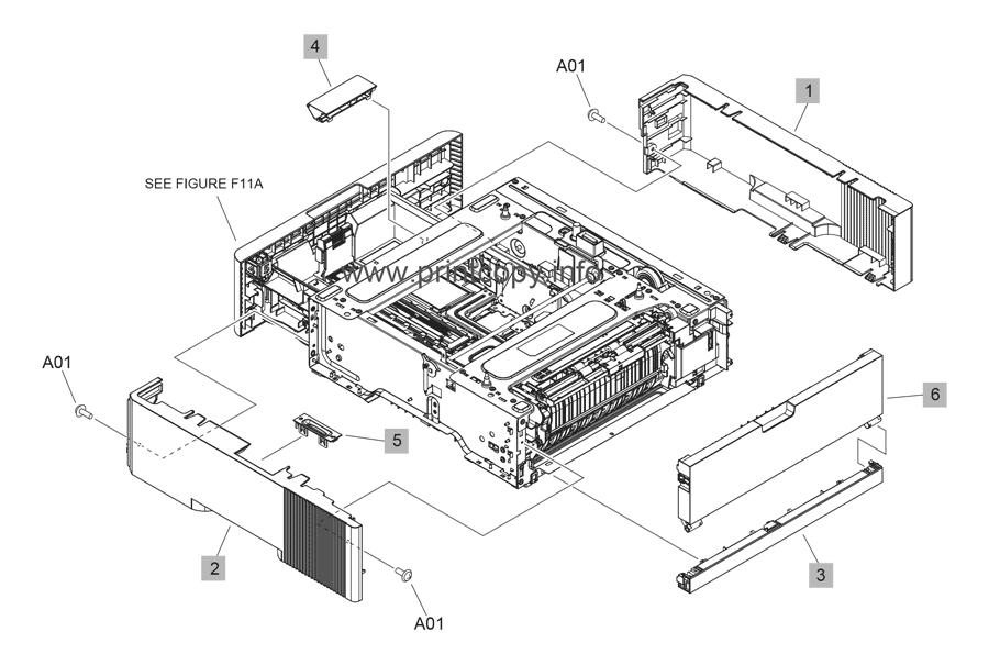 Parts Catalog > HP > LaserJet Enterprise M607 > page 19