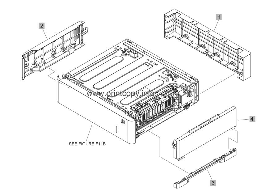 Parts Catalog > HP > LaserJet Enterprise M608 > page 21