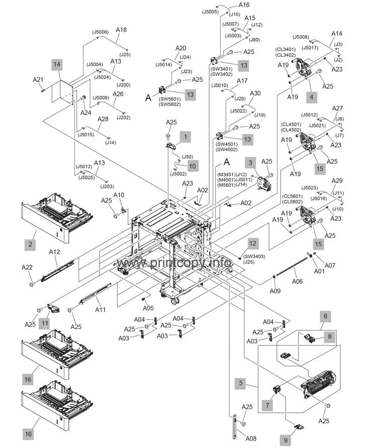 Parts Catalog > HP > LaserJet M607n Enterprise > page 26