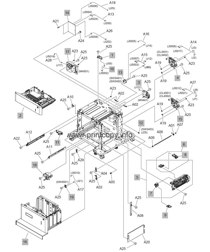Parts Catalog > HP > LaserJet Enterprise M607 > page 28