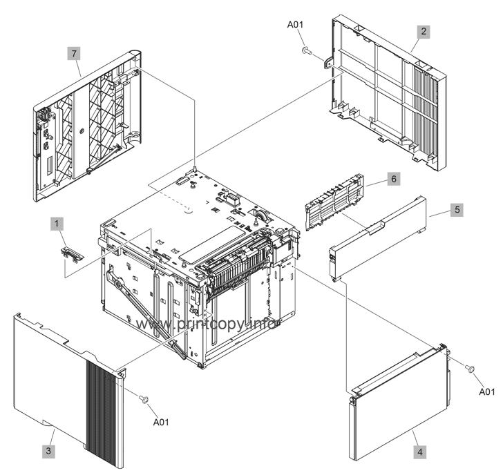 Parts Catalog > HP > LaserJet Enterprise M608 > page 29