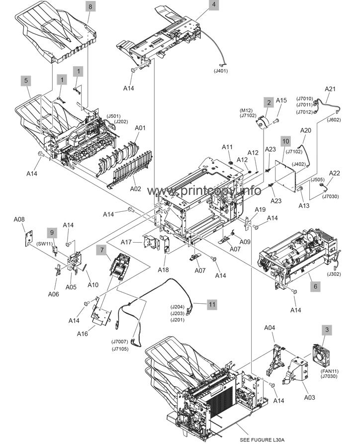 Parts Catalog > HP > LaserJet Enterprise M608 > page 32