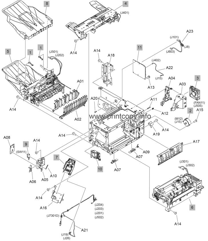 Parts Catalog > HP > LaserJet Enterprise MFP M632 > page 35