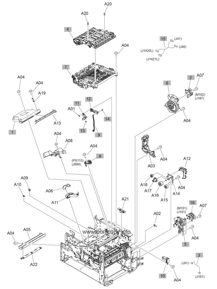 Parts Catalog > HP > LaserJet Enterprise MFP M630 > page 9