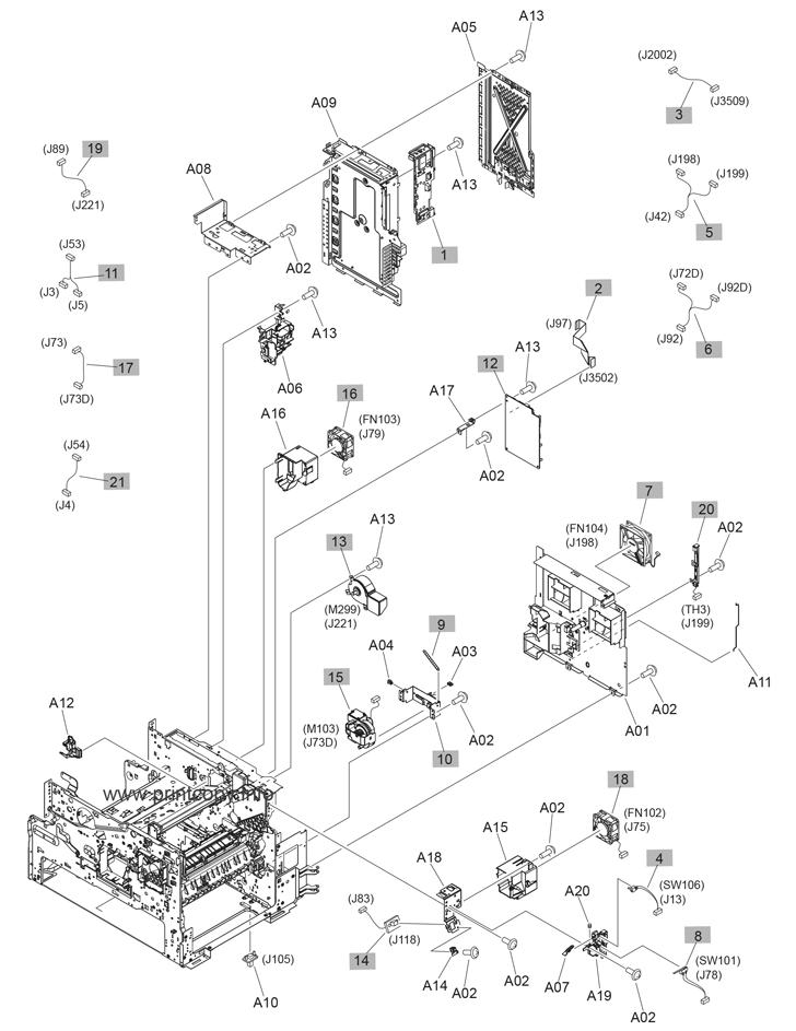 Parts Catalog > HP > LaserJet Enterprise MFP M630 > page 12